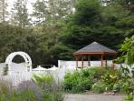 The gazebo in the gardens, perfect for a small wedding!