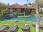 Oceanfront Nani Paniau with phenomenal views,  unique natural pool on lush grounds