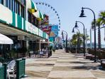 A short drive will connect your to the renovated Myrtle Beach Boardwalk
