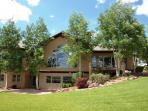 Large Custom Home on secluded hill top near hot springs, caverns, skiing