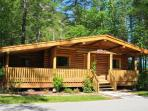 Rental Log cabin accommodations -Rocky Mountains