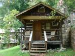 Historic cabin for couple in downtown Gatlinburg.