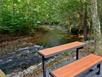 Creekside seating:  Bench or table