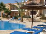 Apartment in Paphos with pool, air con & wifi