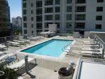 Rooftop pool jacuzzi and barbeque area