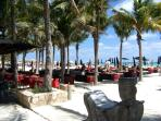 Beach clubs and seaside cafes just a short 4 minute walk away