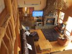 Living Area with 55' flat screen and surround sound