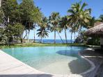 Tropical Beach Front Villa - Fully Staffed