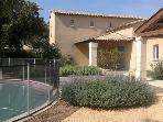Near Uzès,Villa with Pool,in the Charming VIllage of St. Siffret.in Provence, 3 bedrooms, 3 Baths, Sleeps 8