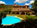 Masia Sant Llorenç in the forest of a Spanish national park for 18 guests