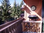 The balcony is a great place to grill and chill.