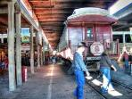 Historic Fort Worth Stockyard.  Ride the Grapevine Train to take a trip back in time