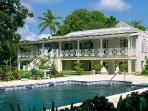 Remodeled 18th-century estate Bellevue Plantation on lush grounds with pool