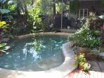Pool in tropical gardens