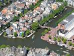 Aerophoto  of World Heritage Canals Amsterdam Amstel river