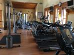 Fitness room at The Beach Club.