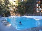 The outdoor pool.