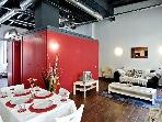 .2 Bedroom Loft Style Apart in Center of Barcelona