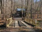 CREEKSIDE COVE- 2BR/2BA- AWESOME CABIN ON CREEK SLEEPS 8, HOT TUB, GAS GRILL, LARGE FENCED YARD FOR PETS, WIFI, SCREENED PORCH, GAS LOG FIREPLACES, AND PET FRIENDLY! ONLY $150 A NIGHT!