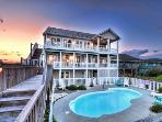 N. Shore Dr. 502 Oceanfront! | Private Heated Pool, Hot Tub, Elevator, Internet, Jacuzzi, Fireplace, Game Equipment