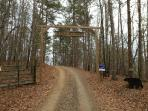 Entrance to Bear Ridge Lodge Property