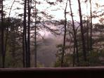 Smoky Mountain morning: West-facing view from the deck.
