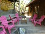 Main deck, lounge chairs, charcoal barbeque