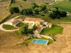 Villa Brusceto- extensive private grounds, 360 degree views & large overflow pool