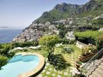 Villa Affresco - Stunning villa with pool & views of Positano and the gulf, 500 metres to the beach