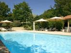 Contemporary Villa Les Cigales in Pine Forest with Lovely Garden, Heated Pool & Outdoor Living Area