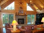 Chimney View Lodge-Upscale Log Cabin - Mtn views