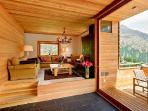 Contemporary Alpine Chalet Esprit with easy access to lift station, sauna & private chef