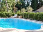 Romantic Villa Racine has vast private gardens with pool and outdoor dining
