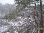 View of Snow from the Cabin