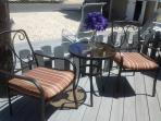Back Patio also has Coffee Table, Outdoor Stereo Speakers and Tranquil View of Barnegat Bay!