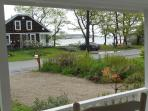 Views of Cape Porpoise harbor from front porch rockers