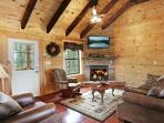 Spacious Cathedral Ceilings in Living Room