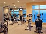 FREE Fitness Center overlooking the Gulf (Open 9-5 Daily)