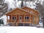 New Log Cabin on Duck Harbor waterfront