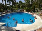 Main pool with children´s pool beyond