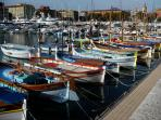 local colourful fishing boats