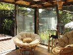 Enclosed Patio, view facing Hot Tub and Deck