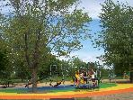 One of many playgrounds along the bike path