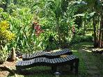 Enjoy the sights and sounds on our locally made loungers outside your porch