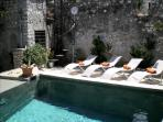 Sermoneta, Historic Stone Village House with Pool, in a  Medieval Hill Town close to Rome and Naples