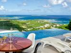SPECIAL OFFER: St. Martin Villa 203 The Villa Offers Breathtaking Views Of The Ocean And Orient Bay.