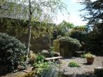The larger courtyard garden is shared with 3 other cottages and is a peaceful haven!