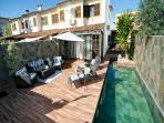 Beautiful view of the villa with a private pool