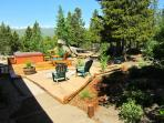 Views from fire pit and Hot Tub, June