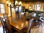 No One Will Bump Elbows or Knock Knees With This Ample Dining Space